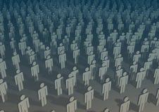 Aantal arbeidskrachten Stock Foto