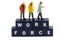 Aantal arbeidskrachten Stock Foto's