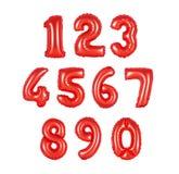 Aantal ballons rode kleur Royalty-vrije Stock Afbeelding