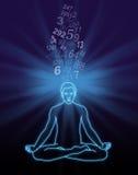 Aantal het Stromen Meditatie royalty-vrije illustratie