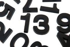 13 aantal op witte achtergrond Stock Afbeelding
