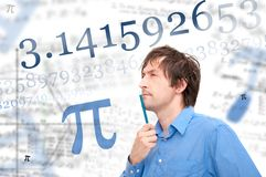Aantal Pi stock afbeelding