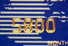 Aantal van creditcard Royalty-vrije Stock Afbeeldingen