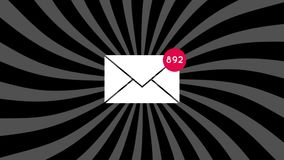 Aantal van het e-mail stijgen