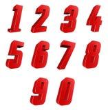 Aantal van 0 tot 9 Royalty-vrije Stock Afbeelding