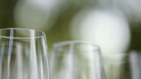 Aantalglas stemware stock videobeelden