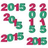 2015 aantallen Royalty-vrije Stock Afbeelding