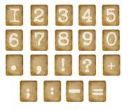 Aantallen die op wit worden geïsoleerdo. Royalty-vrije Stock Afbeelding