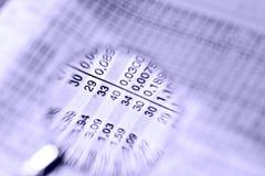Aantallen en aantallen stock afbeelding
