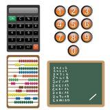 Aantallen en de elementen van het berekeningsontwerp Stock Foto's