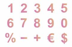 Aantallen en symbolen Stock Illustratie