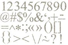 Aantallen en symbolen van dollars Stock Afbeelding