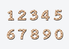 Aantallen in illustratie, abstract aantal worden geplaatst dat Stock Foto's