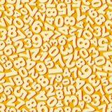 aantallen Naadloos patroon Vector illustratie Royalty-vrije Stock Foto