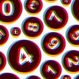 aantallen Naadloos patroon Vector illustratie Stock Foto's