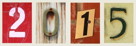 4 aantallen voor 2015 Stock Foto