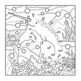 Aantallenspel (narwal) royalty-vrije illustratie