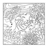 Aantallenspel (x-ray vissen) stock illustratie