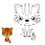 Aantallenspel voor kinderen: bruine kat Royalty-vrije Stock Fotografie
