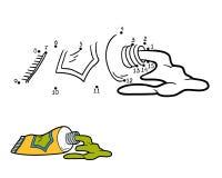 Aantallenspel voor kinderen (buis van verf) Stock Foto