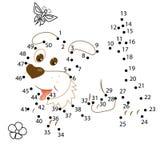 Aantallenspel voor kinderen punt om onderwijsjong geitjespel te stippelen Royalty-vrije Stock Foto