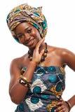 Aantrekkelijk Afrikaans model in traditionele kleding royalty-vrije stock afbeeldingen