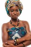 Aantrekkelijk Afrikaans model in traditionele kleding stock foto's