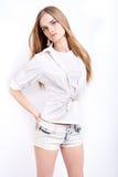 Aantrekkelijk Blond Model Stock Foto