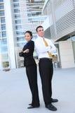 Aantrekkelijk Commercieel van de Man en van de Vrouw Team Stock Foto's
