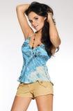 Aantrekkelijk donkerbruin meisje Royalty-vrije Stock Fotografie