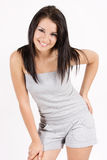 Aantrekkelijk het glimlachen meisjesportret Royalty-vrije Stock Afbeeldingen