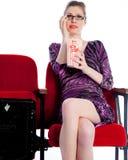 Aantrekkelijk Kaukasisch meisje in haar die 30 in studio wordt geschoten Royalty-vrije Stock Foto