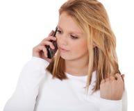 Aantrekkelijk meisje die telefoongesprek maken Royalty-vrije Stock Foto