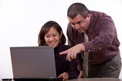 Aantrekkelijk multi rassen commercieel team Stock Foto's
