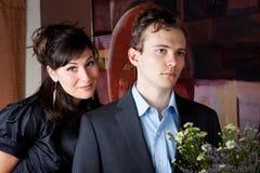Aantrekkelijk paar bij een partij Royalty-vrije Stock Fotografie