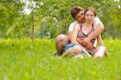 Aantrekkelijk paarportret Stock Fotografie