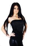 Aantrekkelijk sexy meisje in zwarte stock fotografie