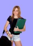 Aantrekkelijk studentenmeisje Stock Afbeeldingen