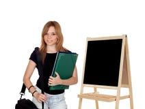 Aantrekkelijk studentenmeisje Royalty-vrije Stock Afbeelding