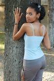 Aantrekkelijk zwart meisje Stock Afbeeldingen