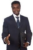 Aantrekkelijke Afrikaanse zakenman royalty-vrije stock fotografie