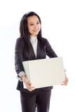 Aantrekkelijke Aziatische die meisjesjaren '30 op witte achtergrond worden geïsoleerd Royalty-vrije Stock Foto's
