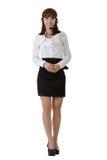 Aantrekkelijke Aziatische secretaresse Stock Foto