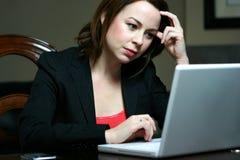 Aantrekkelijke Bedrijfsvrouw Royalty-vrije Stock Afbeeldingen