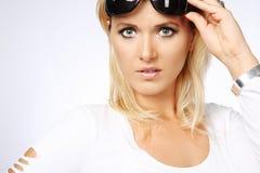 Aantrekkelijke blonde vrouw. Royalty-vrije Stock Afbeelding