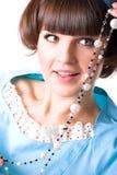 Aantrekkelijke donkerbruine vrouw Stock Fotografie