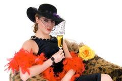 Aantrekkelijke glamourdame Stock Afbeelding