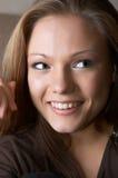 Aantrekkelijke glimlach Stock Foto's