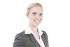 Aantrekkelijke glimlachende bedrijfsvrouw royalty-vrije stock afbeelding