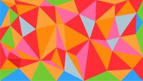 Aantrekkelijke heldere vector veelhoekige geometrische die patroonachtergrond van trianlevormen wordt gemaakt De grafische elemen royalty-vrije illustratie